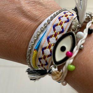 Boho Evil Eye Shell Bracelet